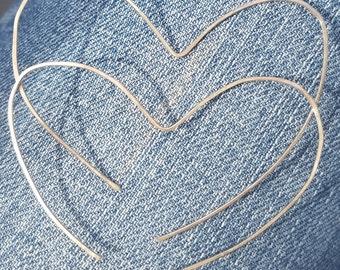 Open Heart Earrings, Gold Open Heart Hoop Earrings, 14k Gold Filled Lightweight Heart Hoop Earrings