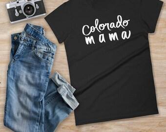 COLORADO MAMA, colorado mama t-shirt, family t-shirt, colorado gift, mama shirt, baby shower gift, mom shirt, colorado shirt, mom and baby