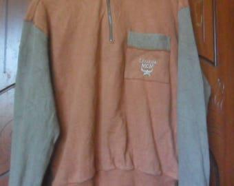 Vintage MCM Legere Sweatshirt//Embroidered Logo//Made in Japan