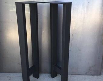 H shape table legs, set of 2, metal table legs, coffee table legs, steel table legs, bench legs, steel legs, industrial legs