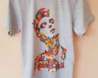 Hand-Painted Morrissey The Smiths T-Shirt Small