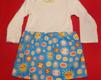 Happy Suns long sleeved 18 month Onesie dress