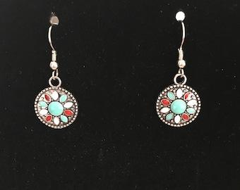 Southwest style drop earrings