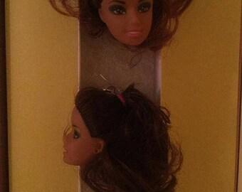 Black Barbie Doll Head Earring