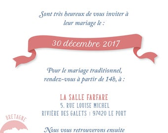 Mixed wedding invitation - digital pdf template