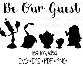 Disney Be Our Guest SVG, Eps, Pdf, Png for Cricut Iron-On Decal Cutting File/Clip Art, Disney Family Shirt, Disney Vacation