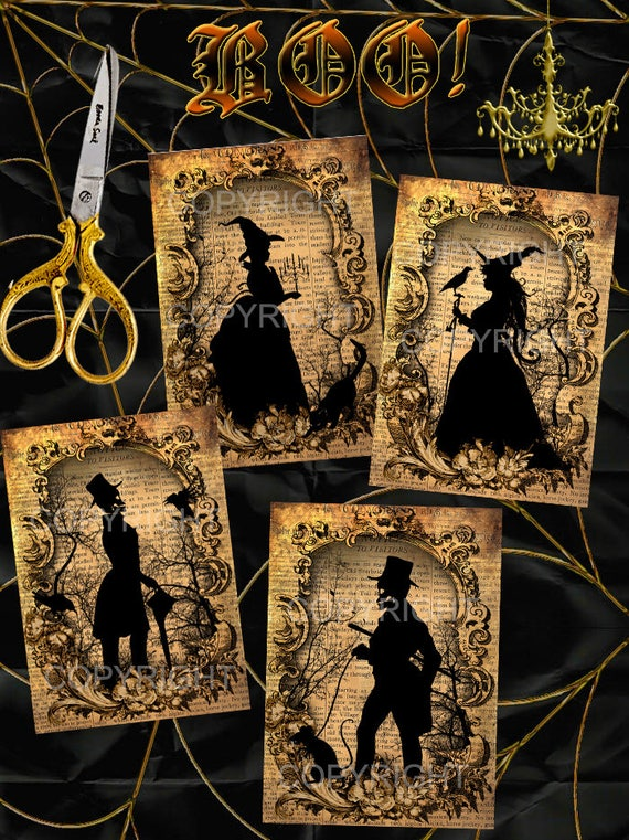 halloween silhouettes images imprimer images pour cadres. Black Bedroom Furniture Sets. Home Design Ideas