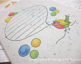 "Notebook ""Bird family"""