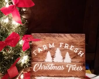 Fresh cut tree sign, rustic christmas signs, christmas gifts, christmas signs, wood sign, christmas wood sign, farm fresh tree sign,