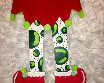 Reversible Elf/Witch Feet Wooden Cutout
