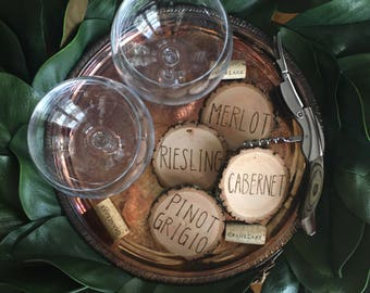4-pk Custom Wine Coasters