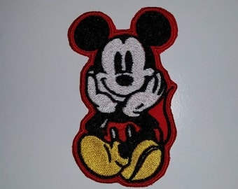 Disney Classic Mickey Mouse Embroidered Patch Iron On or Sew On