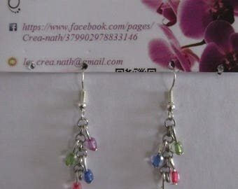 Multicolor chain G9 type earring