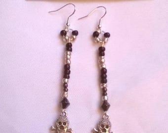 "Earrings in 925 Sterling Silver ""sublime skulls"""