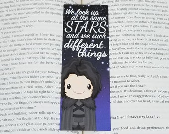 Jon Snow - Rep Designed Bookmark (@erinthebookdragon)