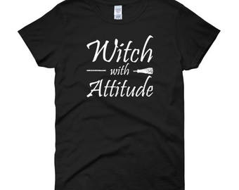 Witch With Attitude Women's Halloween T-Shirt