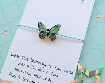 Butterfly Bracelet, Butterfly Wish Bracelet