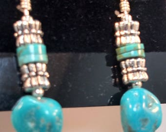 52-Kingman Mine Turquoise Earrings