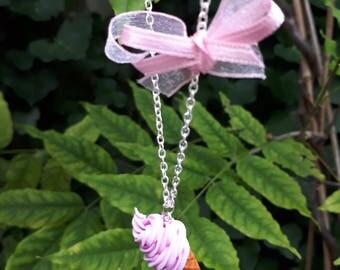 Italian ice necklace Strawberry
