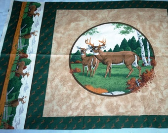 Pillow Panel ~ Deer Print