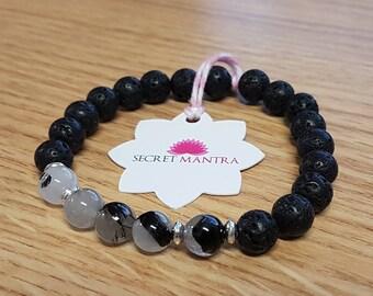 Bracelet lava rock essantial oil diffuser Mala Adjustable SM0070