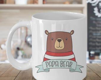 Papa Bear Mug, Papa Mug, New Dad Mug, Dad Mug, Daddy Mug, Father Mug, New Dad Gift, Custom Mug, Personalized Mug, Pops Gift, Gift for Dad