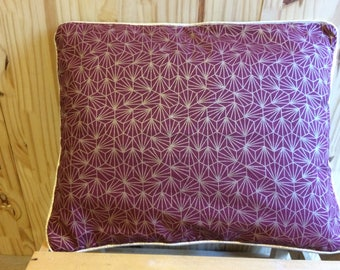 Rectangular cushion Burgundy and gold