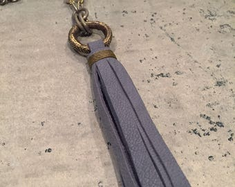 Lilac Classic Leather Tassel