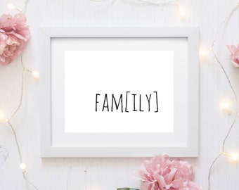 family poster, family printable, family quote print, family print, family wall art, family sign, family quote, family decor, family