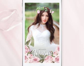 Floral Wedding Snapchat Filter Floral Wedding Geofilter Peonies Snapchat Filter Flower Snapchat Filter Wedding Floral Geotag snap filter