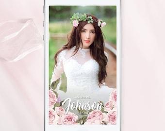 Floral Wedding Snapchat Filter Floral Wedding Geofilter Peonies Snapchat Filter Flower Snapchat Filter Wedding Floral Geotag snap filter
