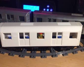 Unfinished Subway Shell for 28 stud Lego Train Base