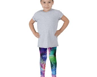 Kid's leggings, Fun Kids Print, Printed Leggings, Cactus Print, Galaxy Leggings, Space Leggings, Kids Pants, Kids Yoga Pants, active wear