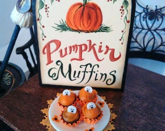 Spooky Halloween muffins
