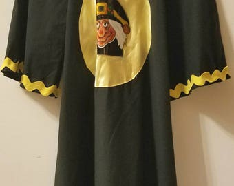 Vintage Late 1970s Young Girls Witch Costume Handmade
