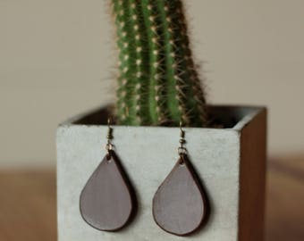 Sierra Small Mocha Earrings | Leather Earrings | Birthday Gift | Anniversary | Gifts under 25 | Handmade | Gifts for Her