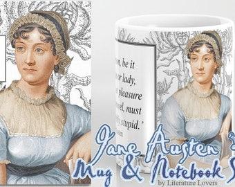 Jane Austen Notebook and Mug Bundle