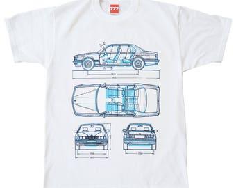 BMW 7 series tshirt e23 e32 german style motorsport limo limousine