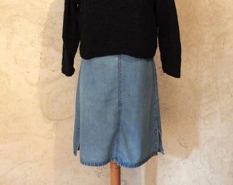 Charcoal 3/4 sleeve Turtleneck Sweater