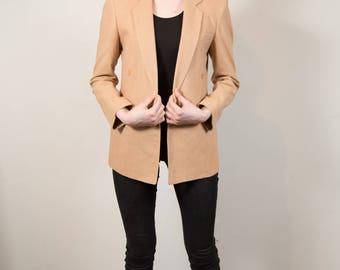 Vintage Camel Blazer - Small Women's or Ladies Tan Sports coat Jacket