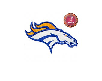 Denver Broncos  7 Sizes Sport Team Embroidery Design instatnt download machine embroidery pattern