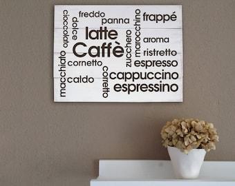 Handmade decorative wall panel wooden shabby chic style coffee bar furniture modern house decor wall P42