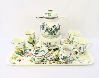 Vintage Villeroy & Boch ''Botanica'', Vitro Porcelain set from 1748 with beautiful Flower Decor