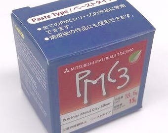 PMC Paste, Silver metal clay, PMC3, 15g