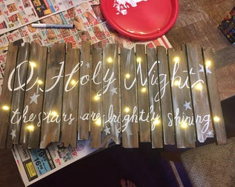 Light-up Christmas sign