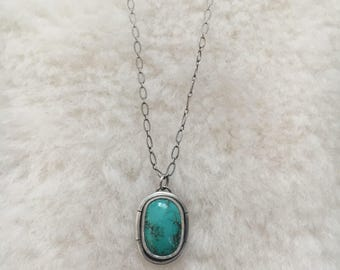 """Sierra Nevada turquoise sterling silver 18"""" necklace"""