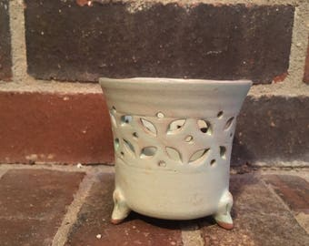 Ceramic Tea Light Candle Holder - Handcrafted by Deaf Nepalese Artisan
