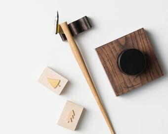 Oblique Pen Holder, Calligraphy pen, Calligraphy tool, Oak Oblique Pen, Calligraphy Holder, Oblique pen, Calligraphy accessories, Nib Holder