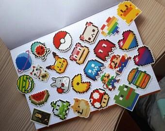 25 Piece Pixel Stickers, Laptop Stickers, Stickers Laptop, Sticker Bomb, Sticker Bombing, Cool Stickers, Sticker Pack, Phone Stickers
