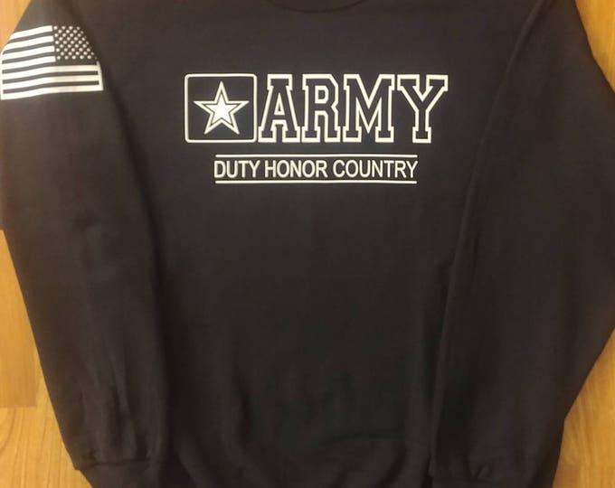 Army - Army Sweatshirt - Mens Army Sweatshirt - Womens Army Sweatshirt - Crewneck - National Guard - Army Veteran - Army Wife - US Army